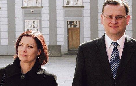 Radka Nečasová s manželem.
