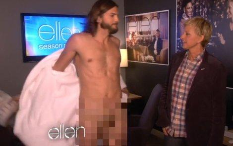 Ashton Kutcher se odhaluje v show moderátorky Ellen De Generes.