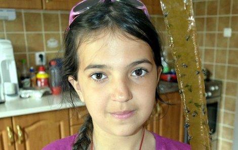 Veronika Rašovská procvičuje na mucholapce matematiku, když počítá chycené mouchy.