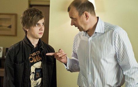 Petr Rychlý se seriálovým synem