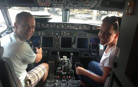 Pavel Cejnar si vyzkoušel práci pilota.