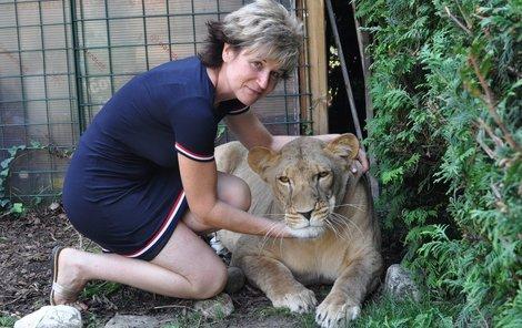 Vzhledem k tomu, že syn paní Lenky už s nimi nebydlí, tak mají tuto lvici Miu jako svoje miminko. Za maso dají měsíčně 3000 Kč jen díky tomu, že mají sponzory. Jinak lev prožere tak 15 000 Kč.