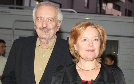 S manželkou, herečkou Magdou Vašáryovou.