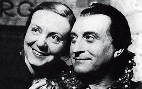 Oldřich Nový s manželkou Alicí Wienerovou-Mahlerovou, které neřekl jinak, než Lízinka.