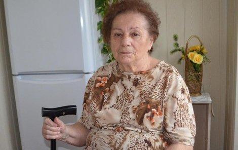 Nešťatsná seniorka Edita Pecinová (78)