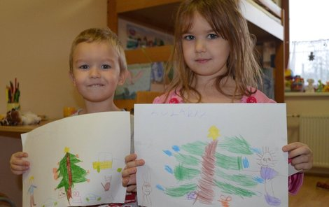 Děti nakreslily dárky.