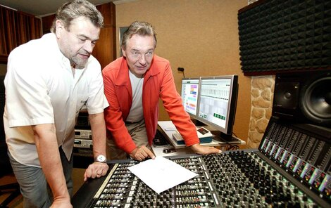 Gott se Svobodou v nahrávacím studiu v Jevanech.
