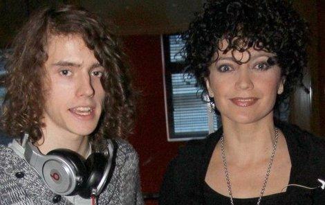 Lucie Bílá a její syn Filip Kratochvíl.