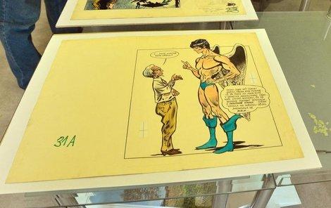 Kriminalisté zabavují komiks Muriel a andělé.