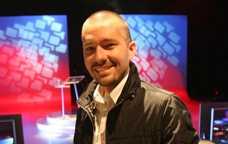 Martin Veselovský ve studiu České televize.