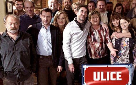 Hvězdy seriálu ULICE.