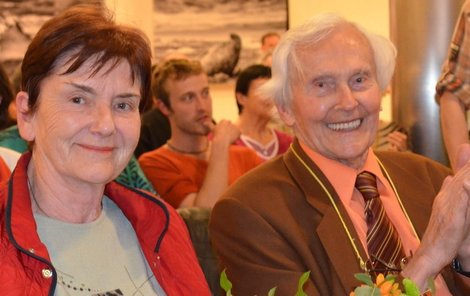 Miroslav Zikmund s manželkou Marií.