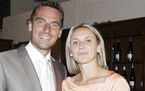 Roman Šebrle se svou ženou Evou