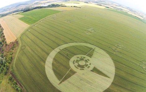 Kruh v obilí u Boskovic