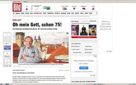 Karlových narozenin si všimli i v zahraničním tisku.