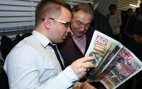 Luboš Procházka a Karel Gott