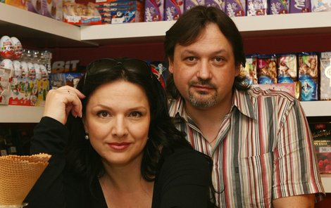 Šárka s přítelem Mirkem.