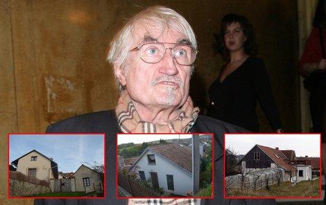 Ačkoliv Landovský často mluvil o tom, že nevyjde ani s důchodem, měl hned několik domů.