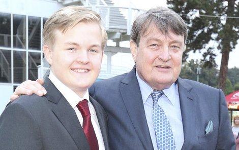 Artur Štaidl s otcem.