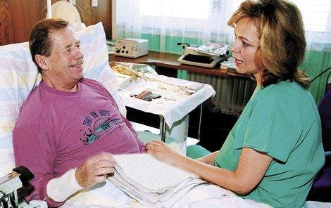 Dagmar Havlová trávila v nemocnicích s Václavem téměř každý den.