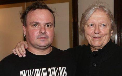Václav Neckář se synem.