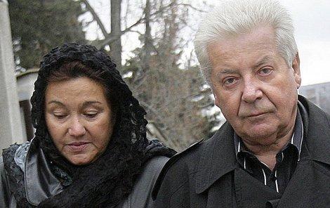 Přemek Podlaha s manželkou Kateřinou Kalendovou.