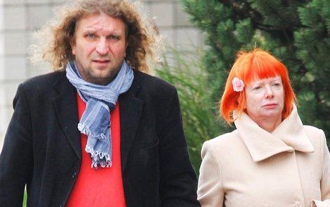 Mirek Barabáš sladil svetr s ohnivými vlasy svojí manželky Báry