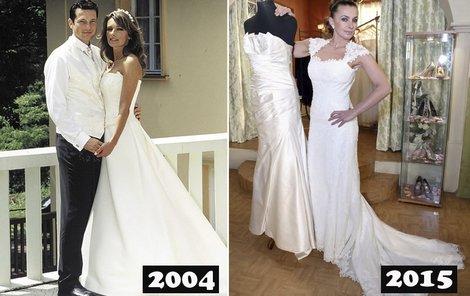 Alice už se jednou vdávala. Jaké šaty si vybrala 11 let poté?