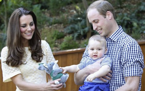 Malý princ George s rodiči