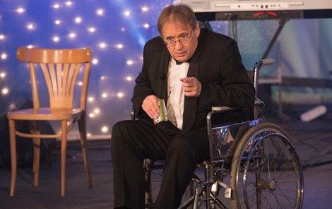 Oblíbený komik Náhlovský si během natáčení vytrpěl svoje.