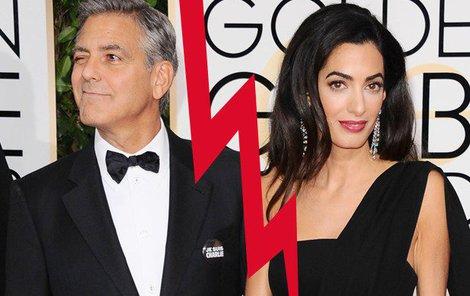 George Clooneyho a Amal Alamuddin čeká možná rozvod.
