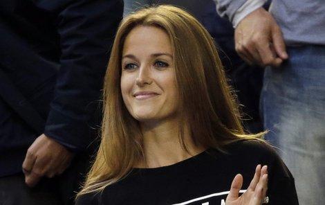 Murrayho přítelkyně Kim v »Berdychově« triku.