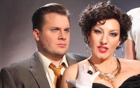 Tomáš Savka a Katarína Hasprová v muzikálu Sunset Boulevard.