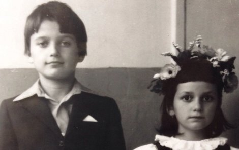 Osmiletý Dalibor a jeho sestra Adéla.