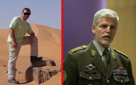 Pavel H. pracoval v Libyi jako koordinátor stravování. Náčelník generálního štábu Petr Pavel.