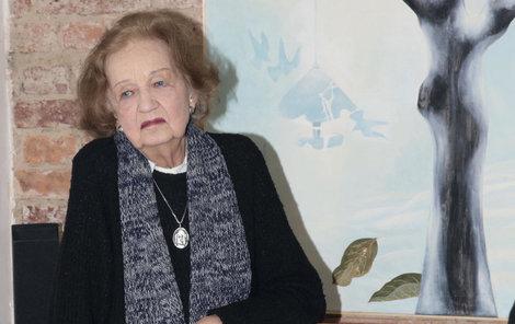 Herečka a malířka Blanka Bohdanová
