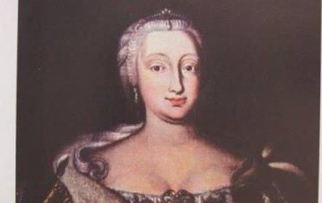 Co také zmizelo? F. I. Steinský, Císařovna Marie Terezie, olej, plátno, 1745.