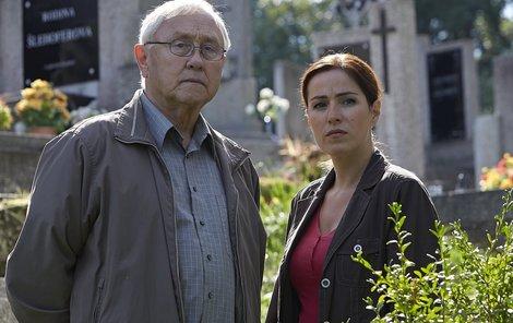 Hvězdy policejního seriálu Soňa Norisová a Jaroslav Satoranský.