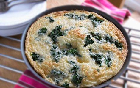 Špenátovo-rukolová omeleta.