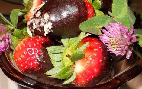 Jahody v čokoládě.