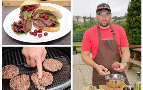 Kančí hamburger od šéfkuchaře Michala.