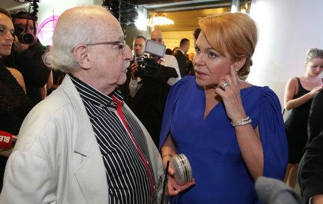 Havlová s režisérem Herzem.