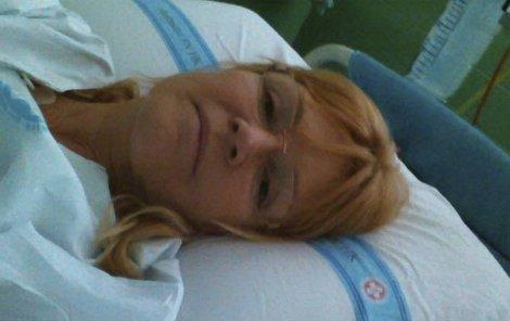 Martinová skončila v nemocnici.