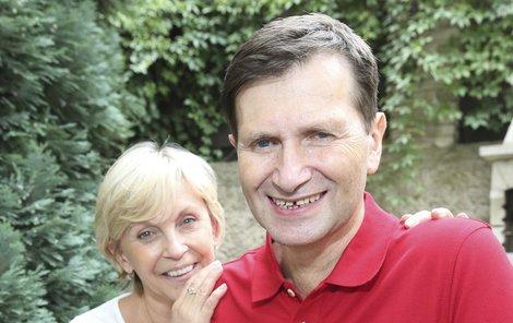Nejen Jan Hrušínský zhubl. I jeho žena Miluška Šplechtová ztratila trápením osm kilo.