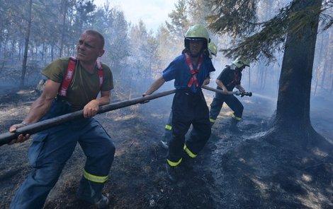 Nejvíce dávají zabrat lesní požáry, oheň se často šíří spodem.