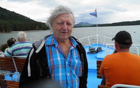 Třináct let po mrtvici si Neckář užíval na lodi...