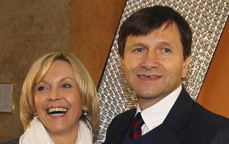 Babička Miluška a dědeček Jan.