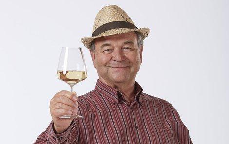 Postránecký jako vinař Bedřich Pavlíček.