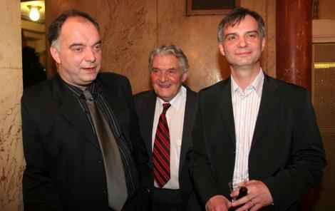 Ladislav Trojan se syny Ondřejem (vlevo) aIvanem.