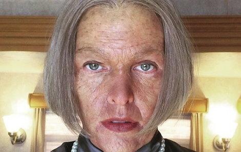 Babička Milla po 4hodinovém »zásahu« maskérů.